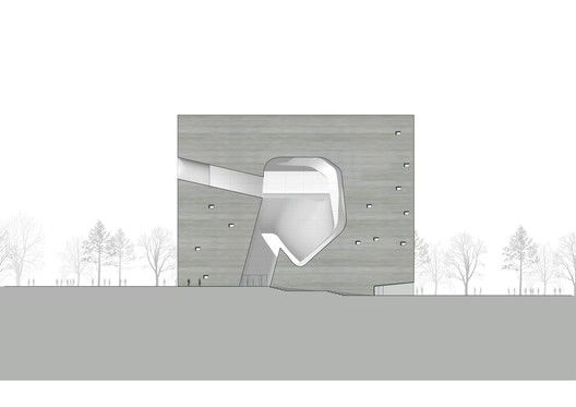 Tianjin Ecocity Ecology and Planning Museums / Steven Holl Architects,Planning Museum South Elevation © Steven Holl Architects