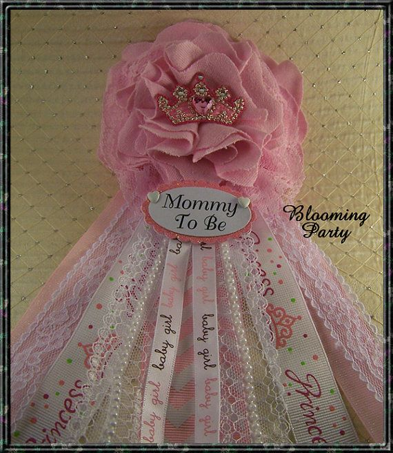 Princess Baby Shower Corsage Princess Mommy To Be Corsage Princess Baby Shower Badge Mommy to Be Corsage Princess Baby Shower