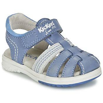 Sandales+et+Nu-pieds+Kickers+PLATINIUM+Bleu+58.99+€
