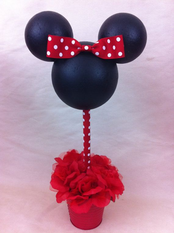 Minnie Mouse Centerpiece by POPCUPZ on Etsy, $25.00