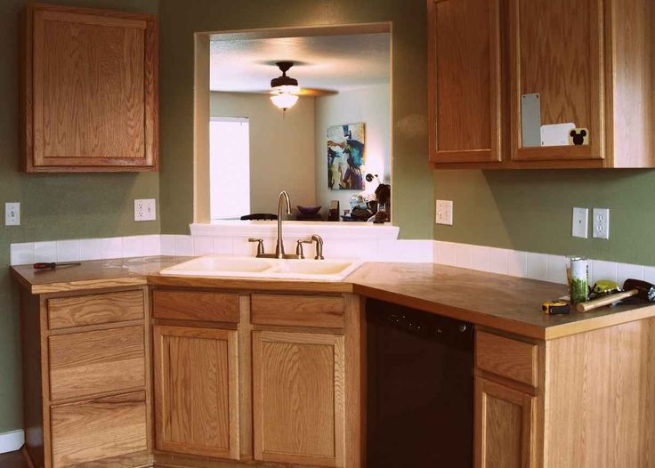 Inexpensive wooden kitchen countertops ideas