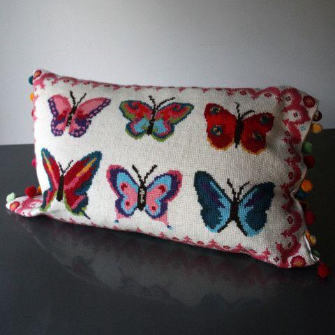 6 Bright Butterflies Cross Stitch Kit - Version 2
