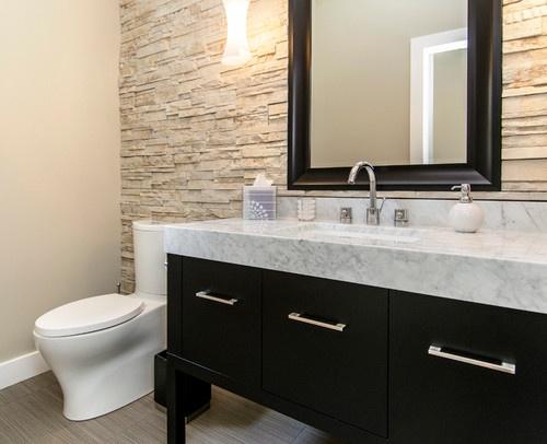 Half bathroom with tile wall hbd bathrooms pinterest for Bathroom ideas half baths
