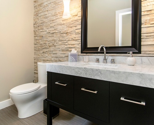 Half Bathroom With Tile Wall Bathroom Ideas Pinterest