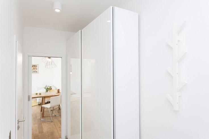 white designed hall by Kristina Proksova