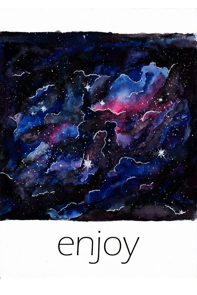 'Ceritanya langit' drawing galaxy with water colour