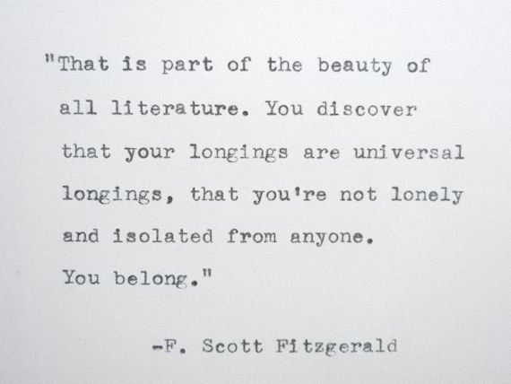 F SCOTT FITZGERALD Quote Made On Typewriter Wriers Quote Author Quote Literature Quote on Etsy, $8.00