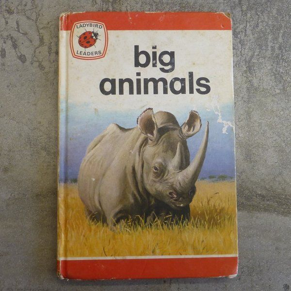 Vintage Ladybird Book Ladybird Leaders Big Animals written & illustrated by John Leigh-Pemberton Series 737 no.18. Printed 1975, England