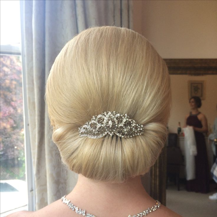 Classic chignon bride hair style