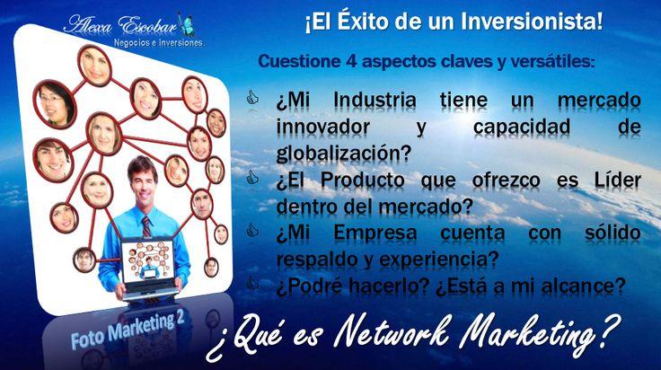 ¡Tu éxito está en la estrategia que utilizar para hacer Negocios e Inversiones! http://on.fb.me/GFto9t  ¿Sabías que el Network Marketing es una industria que está creciendo a nivel mundial y hace cada día más empresarios independientes?  ¡Observa y considera las variables para innovar con tu marca personal o producto!  ¡Sólo para Emprendedores con Poder Emprendedor!