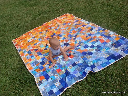 Blue/Orange Quilt - love and adore this... will make a version for myself one day