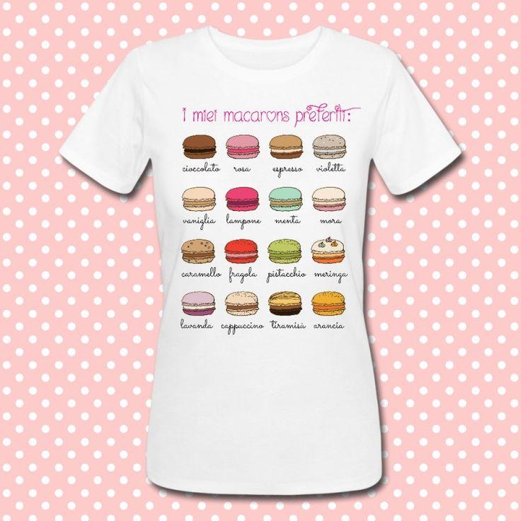 Gattablu stampa le tue t-shirt personalizzate, scegli tra le tantissime grafiche a colori brillanti firmate Gattablu Shop Online, oppure disegna la tua maglietta e personalizza il tuo guardaroba, per outfit unici al mondo! #tee #tshirt #outfit #moda #fashion #macaron #macarons #dolci