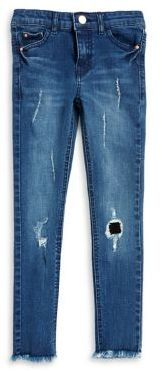 Manguun Girl's Distressed Skinny Jeans