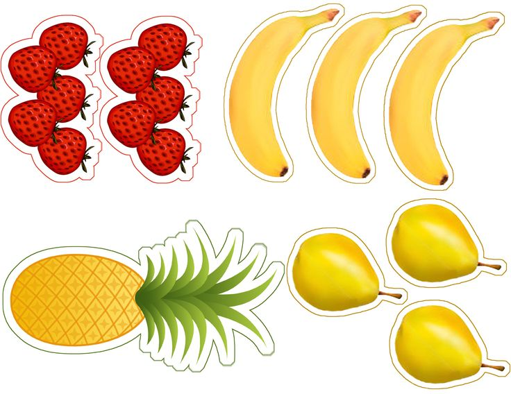 Vamos à feira? Imagens de alimentos para imprimir e recortar | Reab.me