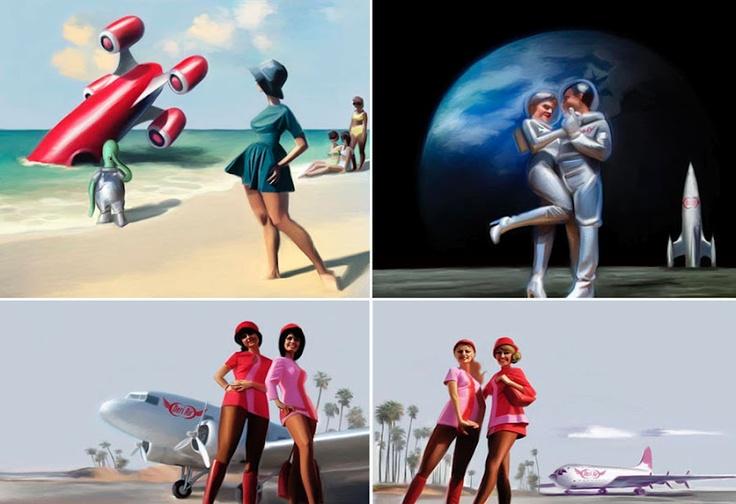 027ccbb685e266935adbdd6338ec2277 retro pictures space girl