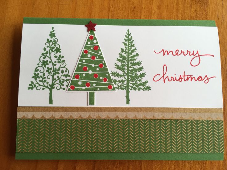 Christmas trees Stampin up