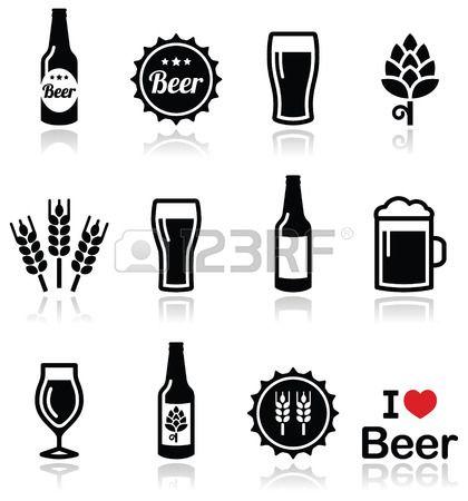 Beer Mug Silhouette Beer glass vector black