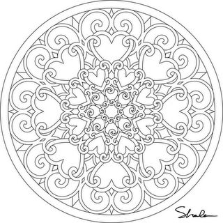 Several Valentine Mandalas to print and color. Free!  click on image.