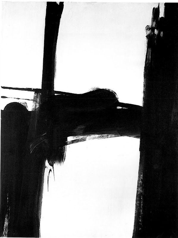 Franz Kline _It took me a while to think these were real art. But when I look at his paintings through the years, I seem to gain and understanding. I love the way he goes down to just the essence!