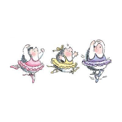 ecart, splits, pirouette - sweet faces here.  Gotta love those hedgehog ballerinas.