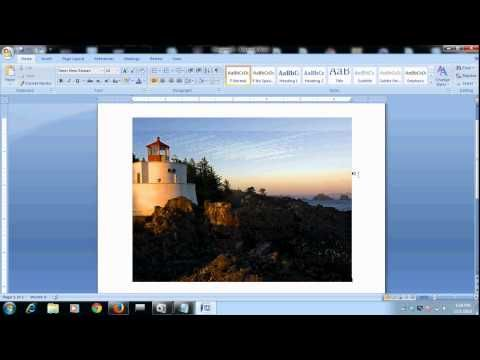 Write a text on image in microsoft word 2007 document