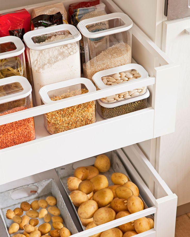 M s de 1000 ideas sobre cajones de la cocina en pinterest - Botes almacenaje cocina ...