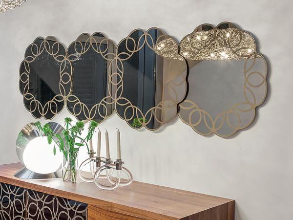 Modern and Stylish Granada Wall Mirror in Silver