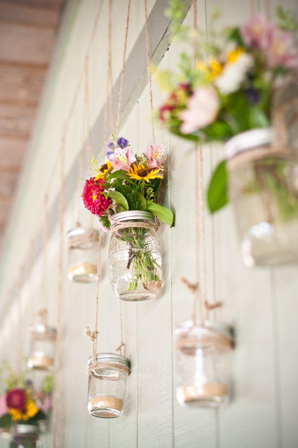 Mason jar decor  #mariage #Toulouse #Ariège #chateau #campagne #charme #wedding #country