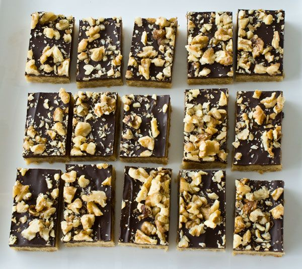 Chocolate Walnut Toffee Bars | Recipes: Brownies, Slices & Bars | Pin ...