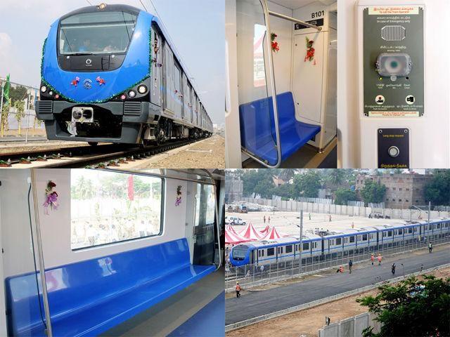 Slideshow : Chennai Metro Rail test run - Chennai Metro Rail test run flagged off   The Economic Times