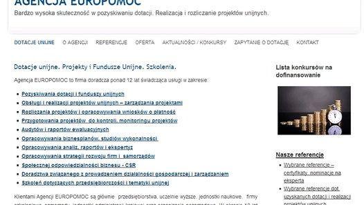 DOTACJE UNIJNE http://agencjaeuropomoc.pl/