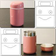Thermobehälter Farbig & Kompakt für Getränke oder Speisen 0,40 L Edelstahl UNIVERSAL Rosa