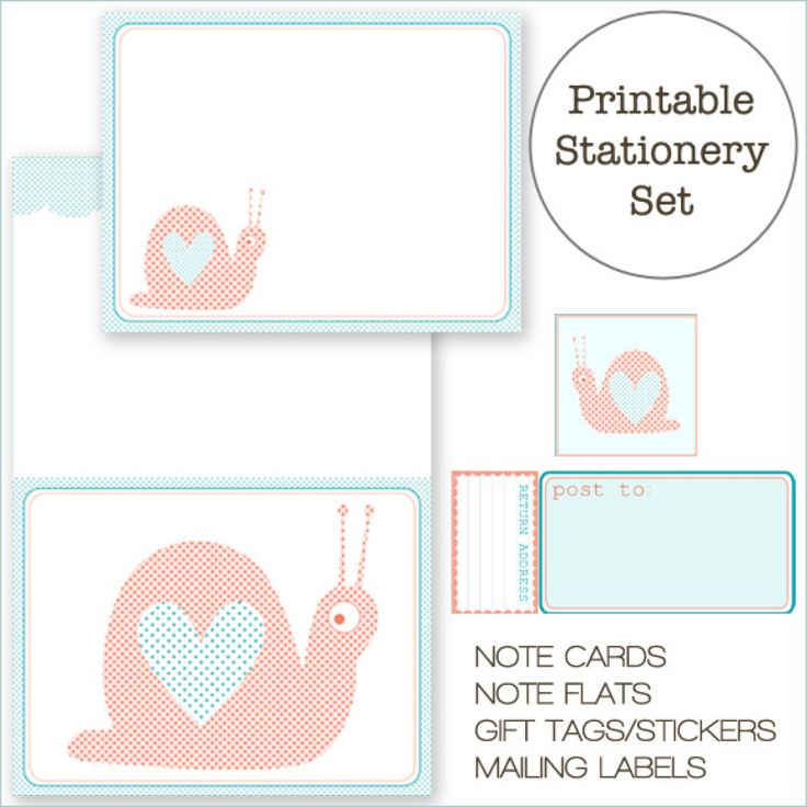 10 Free Printable Cards And Stationery Sets That Rival Anything You'd Find At A Boutique (PHOTOS)