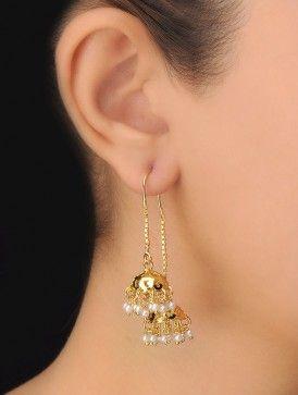Pair of Ethno Pearl Earrings