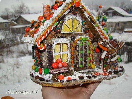 Рождество Лепка Папье-маше Пряничный домик
