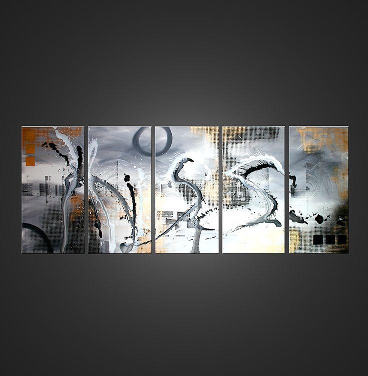 Tableau géant kiss tableau peinture art abstrait decoration contemporain