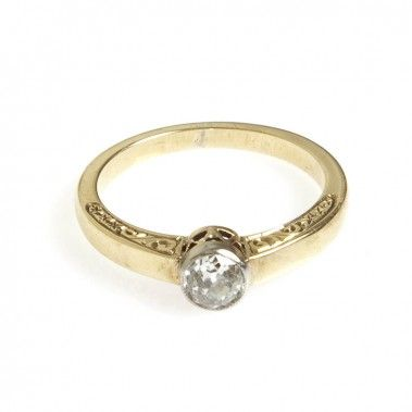Pierścionek, Nr. 1223 złoto, diament - Desa Biżuteria