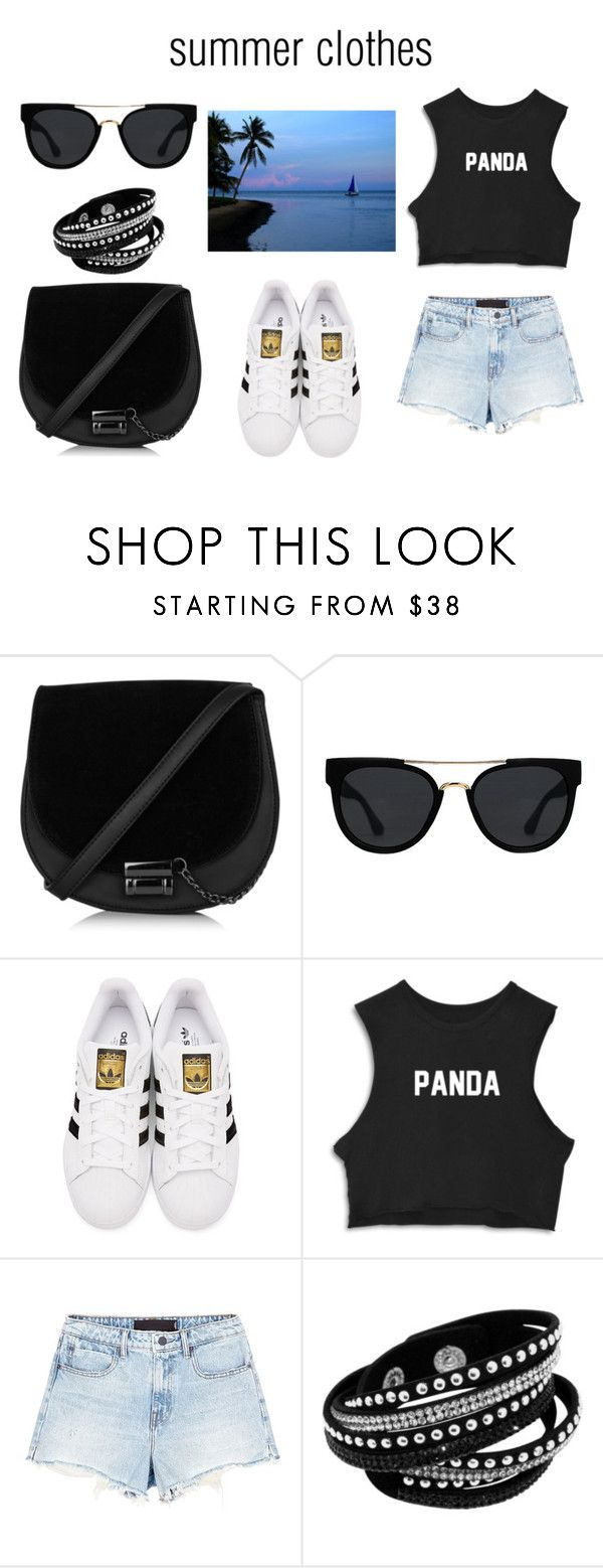 Look ideal pour les vacance au soleil ☀️ by yseultdel on Polyvore featuring mode, Alexander Wang, adidas Originals, Quay, adidas, short, holiday and superstar