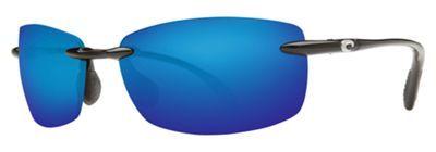 Costa Ballast 580 Polarized Sunglasses - Shiny Black/Blue Mirror