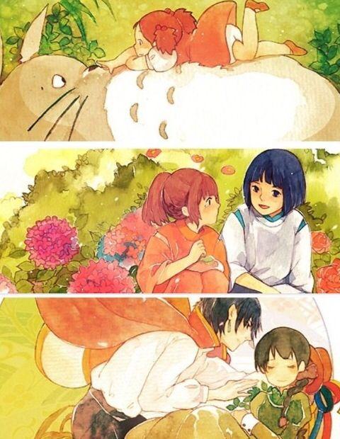 Imagem de anime, spirited away, and totoro