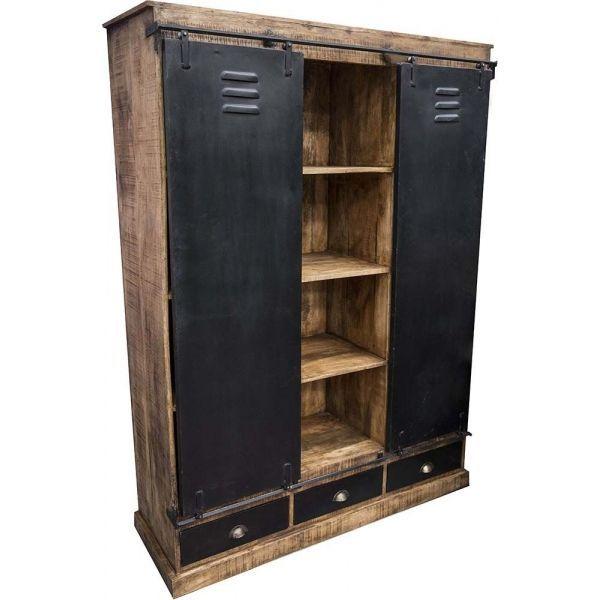 armoire industrielle 3 tiroirs et 2