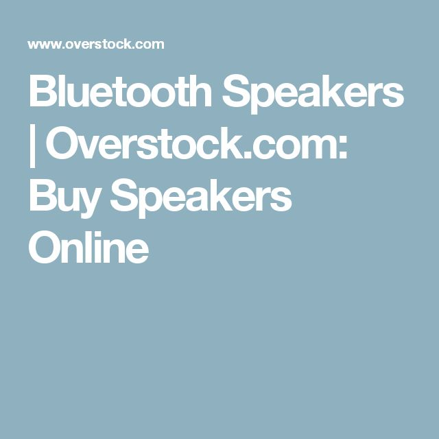 Bluetooth Speakers | Overstock.com: Buy Speakers Online