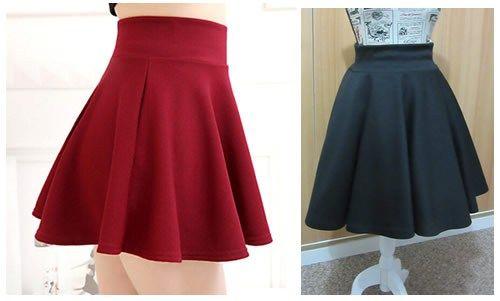 Como hacer una mini falda plato con tela elástica
