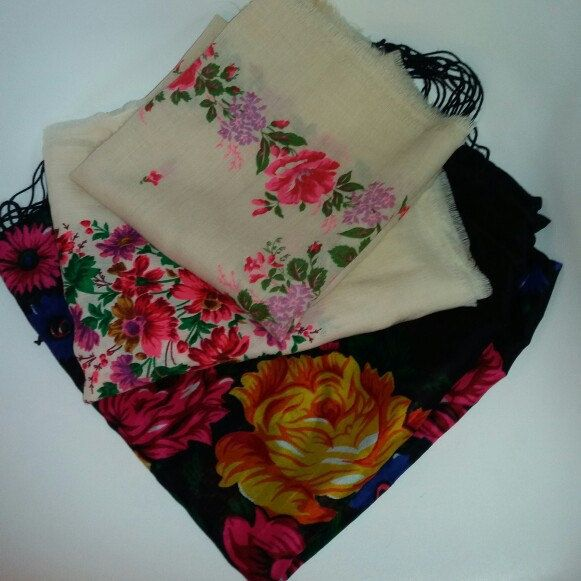NEW! • 3 new floral shawls just listed •