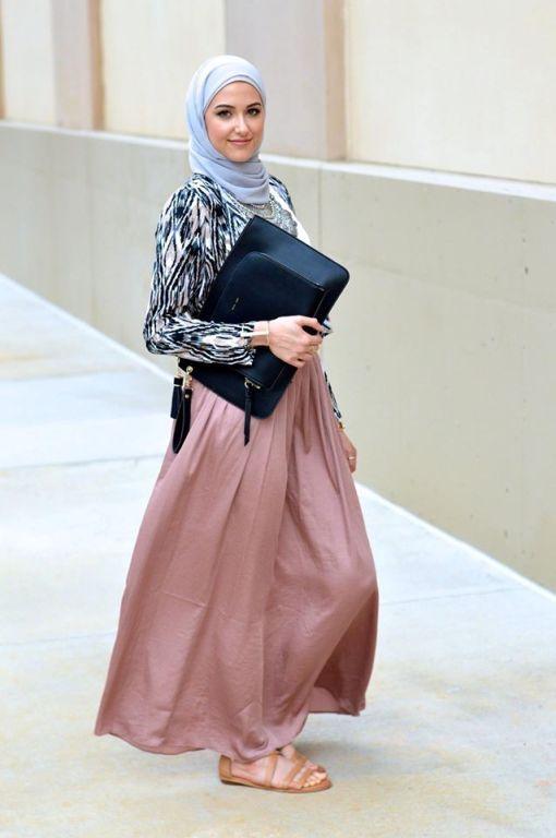 pastel hijab skirt ,Classy hijab outfits http://www.justtrendygirls.com/classy-hijab-outfits/