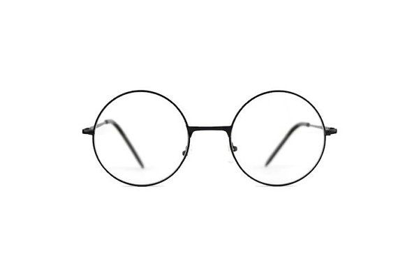 Black XL glasses round metal frames retro hipster Eyeglasses eyewear man  woman New be96cf9f50