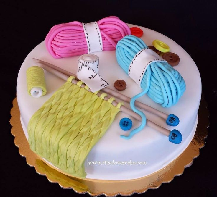 Knitting Birthday Cake Ideas : Best images about knitting inspired cakes on pinterest