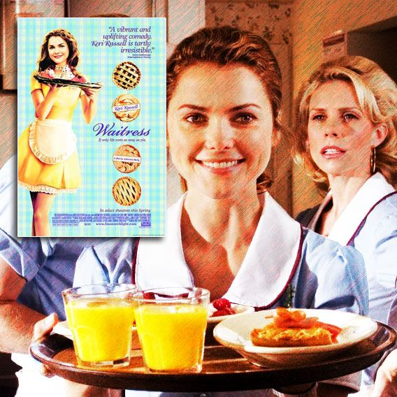 """""""Oh I love living vicariously through the pain and suffering of others.""""  Waitress (2007) PG-13. Jenna is a pregnant, unhappily married waitress in the deep south. She meets a newcomer to her town and falls into an unlikely relationship as a last attempt at happiness. Director: Adrienne Shelly. Stars: Keri Russell, Nathan Fillion, Jeremy Sisto."""