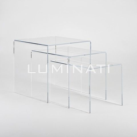 Set Of 3 Clear Acrylic Nesting Tables