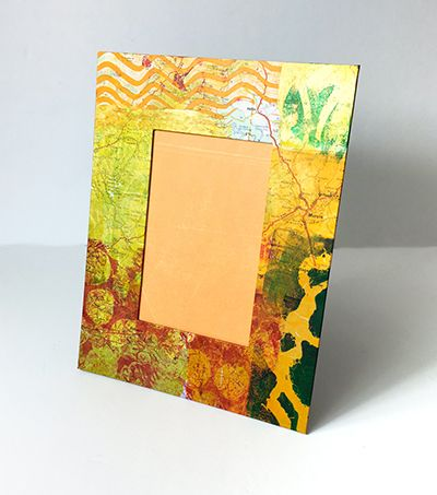 Handmade printed frame